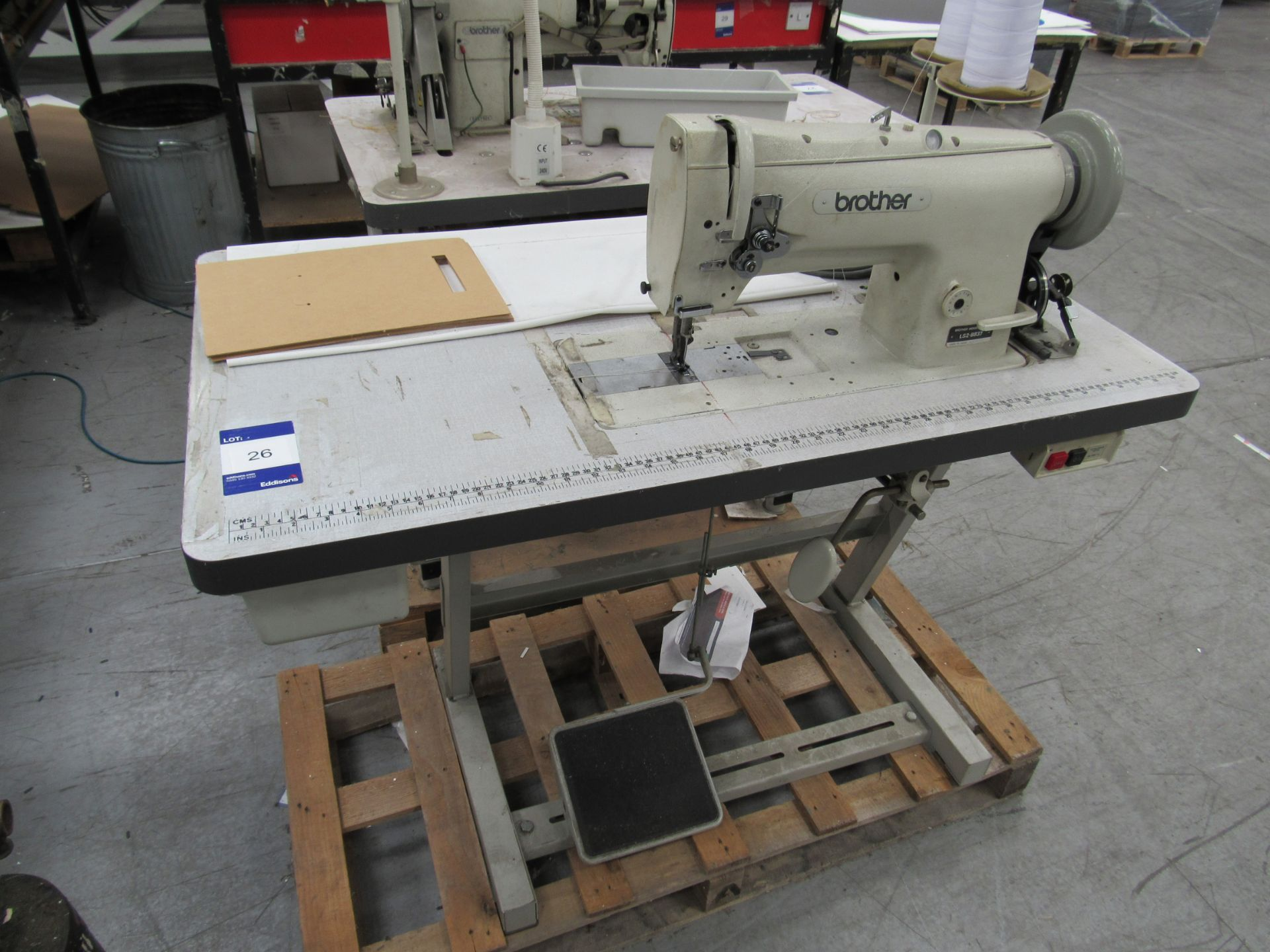Brother LS2-B837 Industrial Sewing Machine Serial Number M3538580