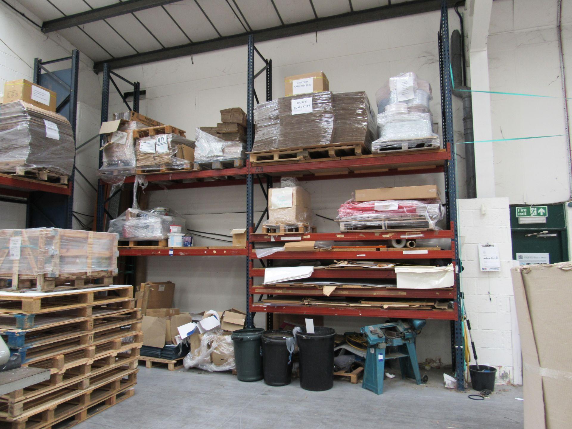 3 Bays Warehouse Racking, 5 End Frames, 20 Cross Beams - Image 2 of 3