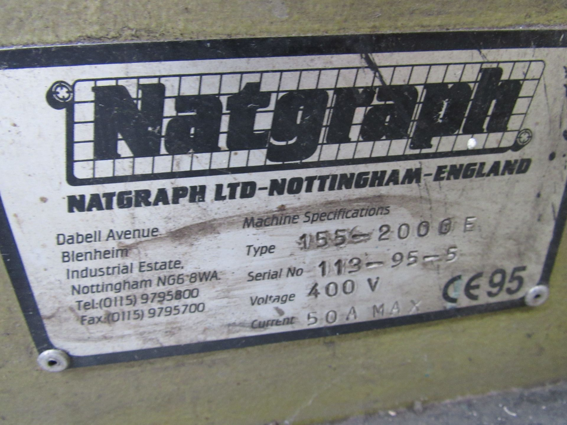 Sias Print Serifast 117.180 Screen Printer Serial Number 88745 with Natgraph 155-2000E UV Dryer Line - Image 8 of 10