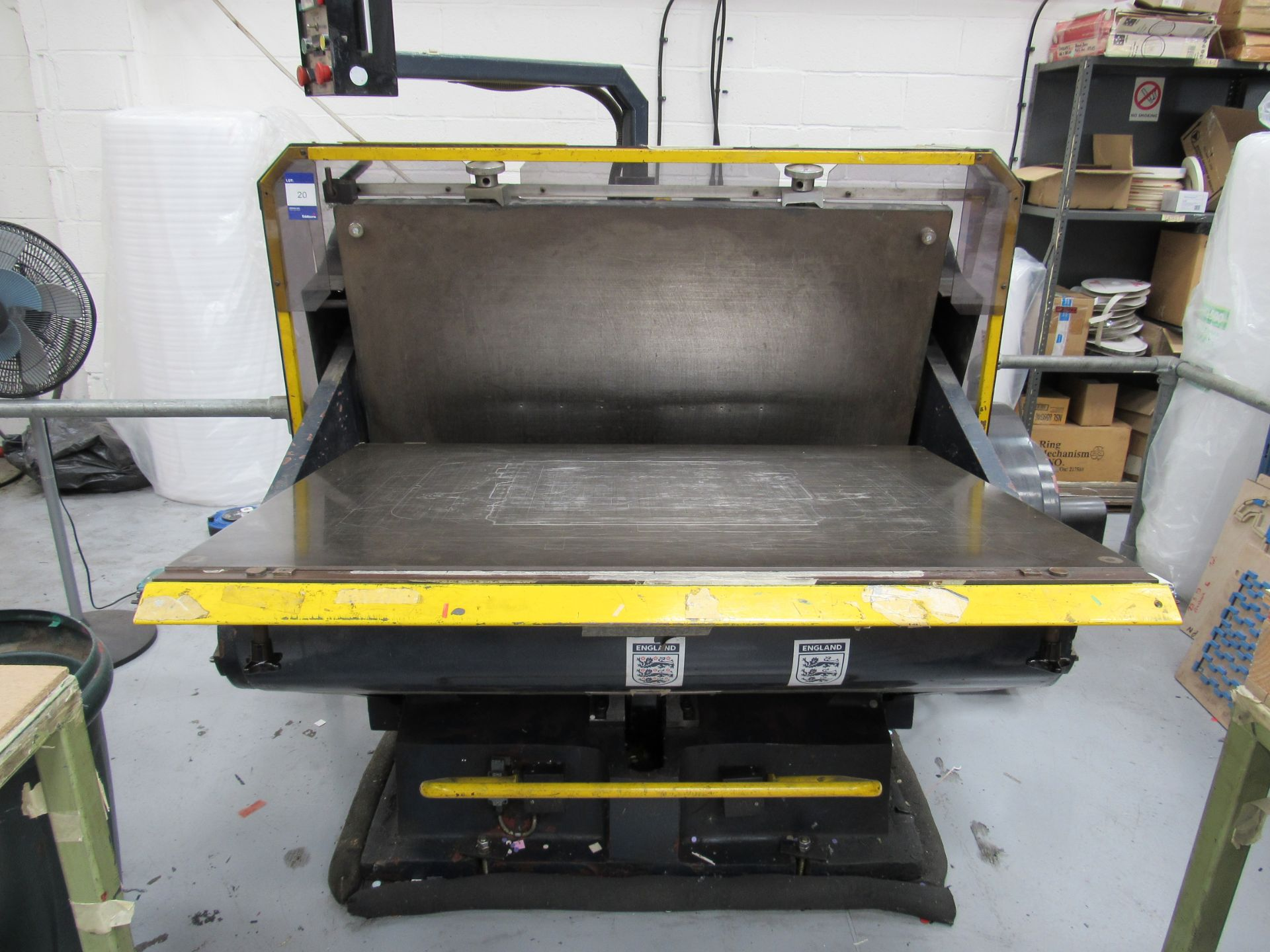 Viking Press VK1330 Cut and Crease Platen 1330 x 960mm Serial Number 97172 - Image 2 of 9