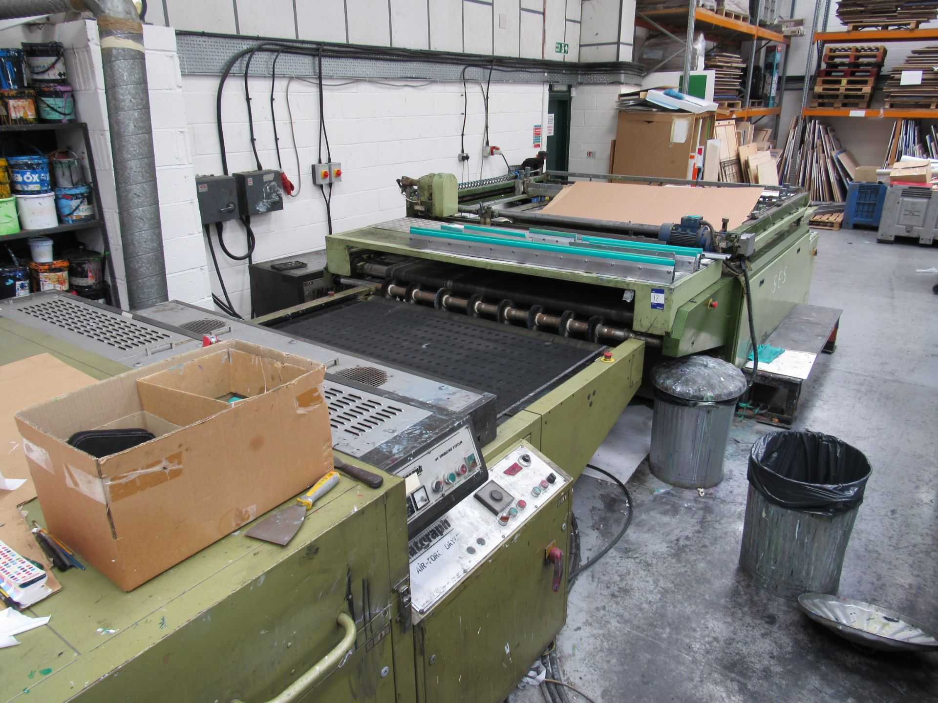 Sias Print Serifast 117.180 Screen Printer Serial Number 88745 with Natgraph 155-2000E UV Dryer Line - Image 10 of 10
