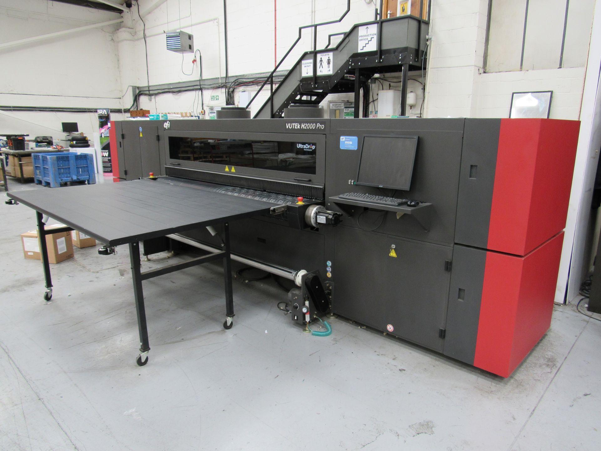 EFI VUTEk H2000 Pro - UltraDrop Technology UV 2m Hybrid Printer, Serial Number 262013, Dec 2014, - Image 6 of 16