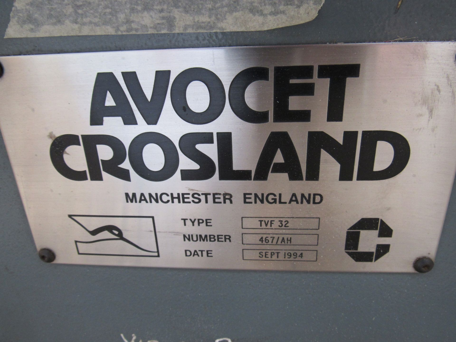 Avocet Crosland TVF 32 Cut and Crease Platen, 1690 x 1220mm, Serial Number 467/NH, Sept 1994 - Image 6 of 6