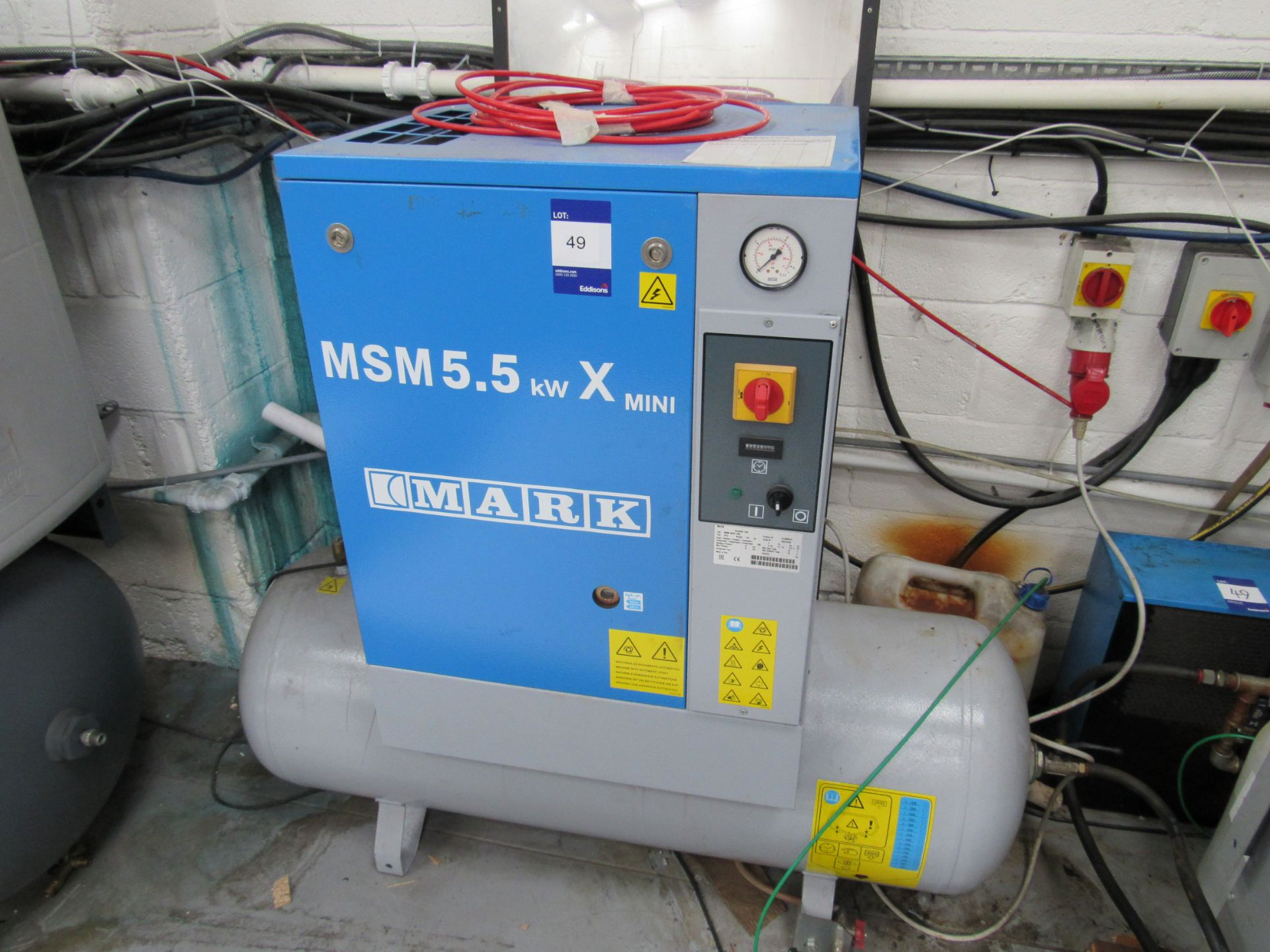 Mark MSM5, 5KWX, 200L Receiver Mounted Compressor with Air Drier Serial Number CA1870780