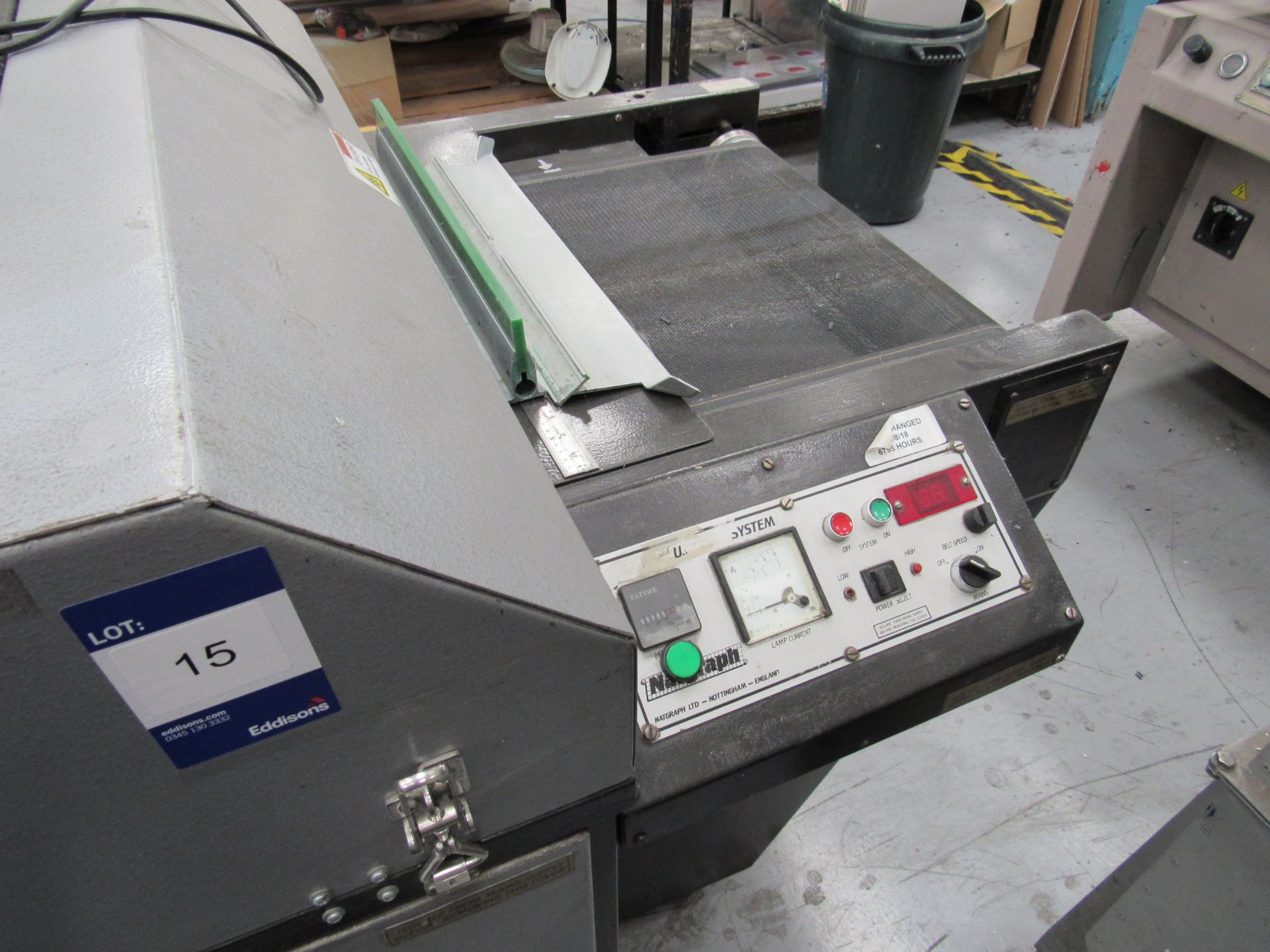 Natgraph UV Drier with Belt, 6985 Hours, Lamp Changed at 6795 Hours - Image 2 of 4