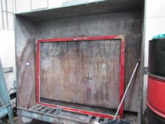 Screen Frame Wash Down Booth