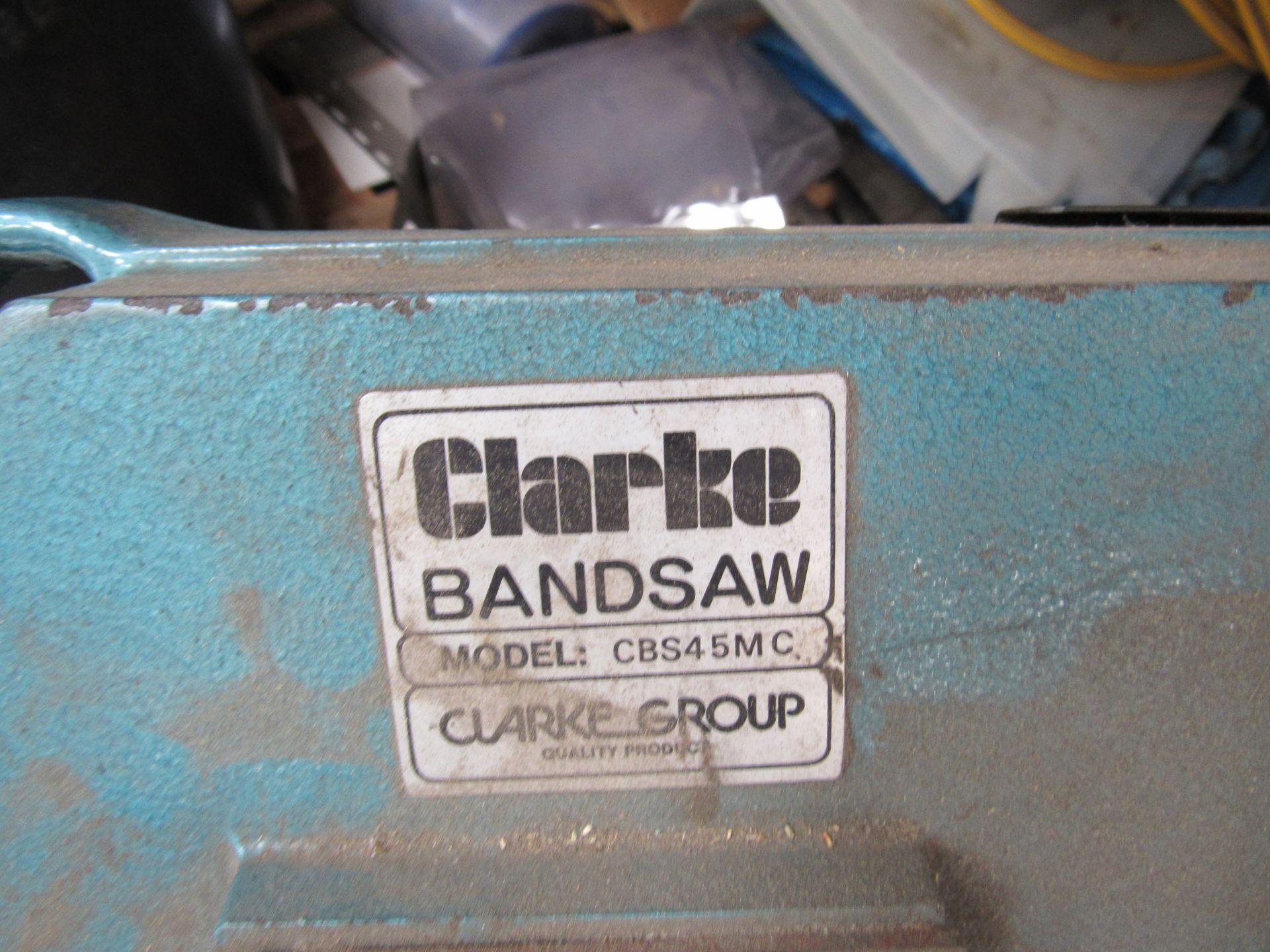 Clarke Band Saw CB545MC Horizontal Band Saw - Image 3 of 3