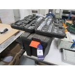 Tool Box and JCB Socket Set, incomplete