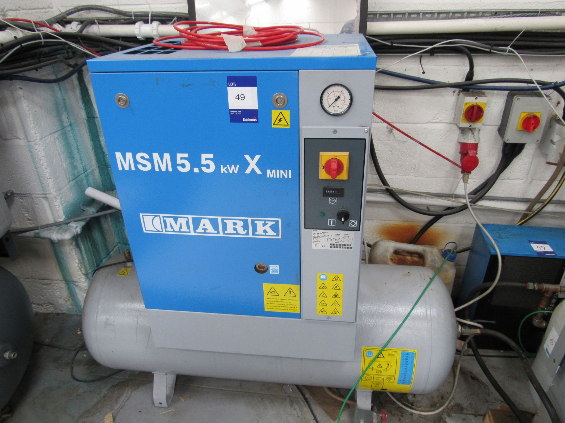 Mark MSM5, 5KWX, 200L Receiver Mounted Compressor with Air Drier Serial Number CA1870780 - Image 3 of 7