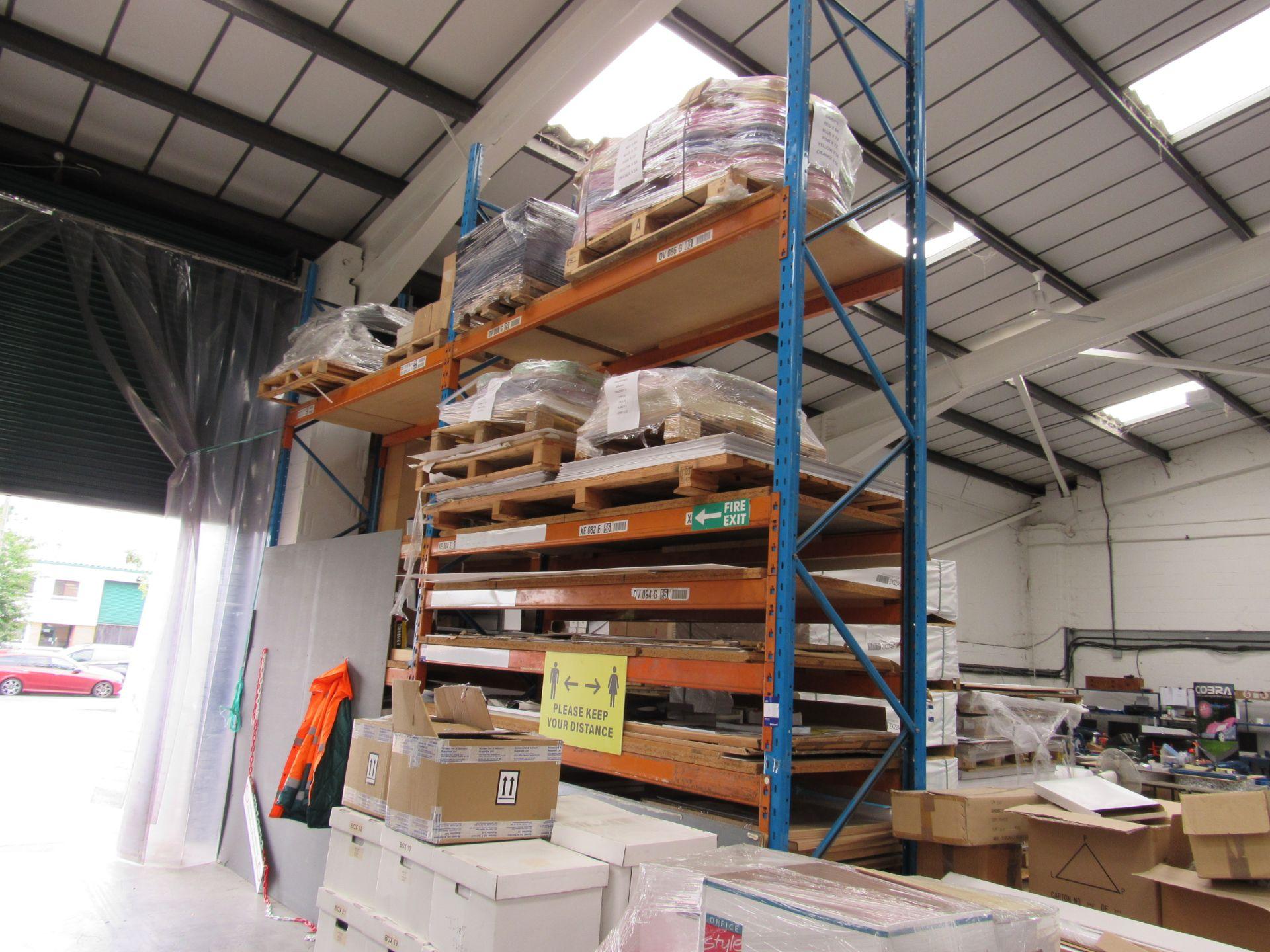 2 Bays Warehouse Racking, 3 End Frames, 22 Cross Beams