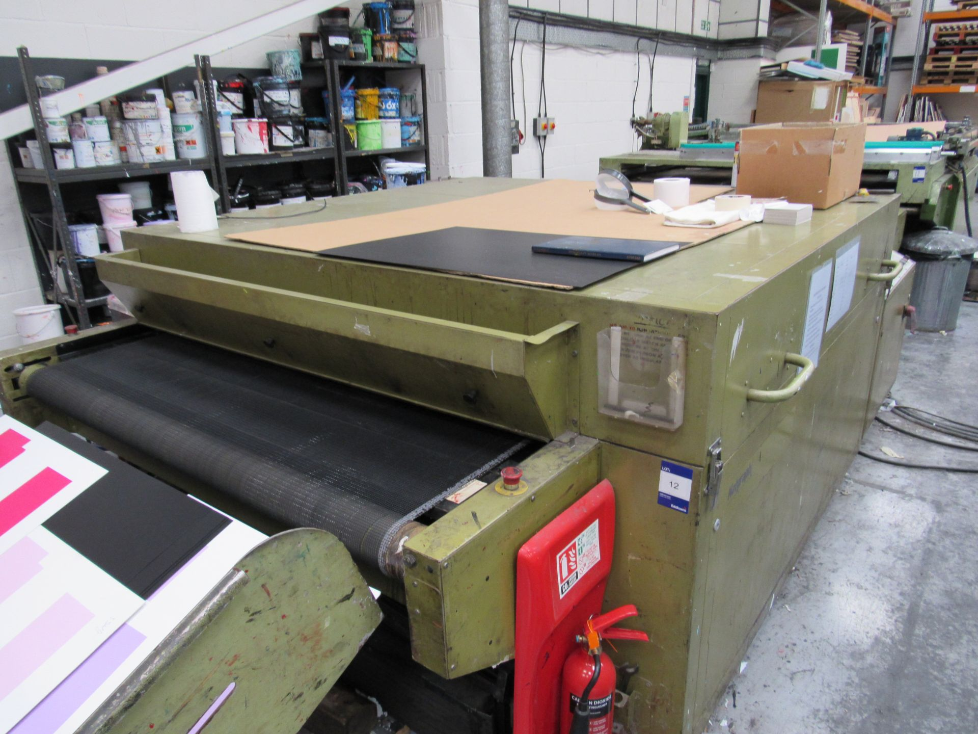 Sias Print Serifast 117.180 Screen Printer Serial Number 88745 with Natgraph 155-2000E UV Dryer Line - Image 2 of 10