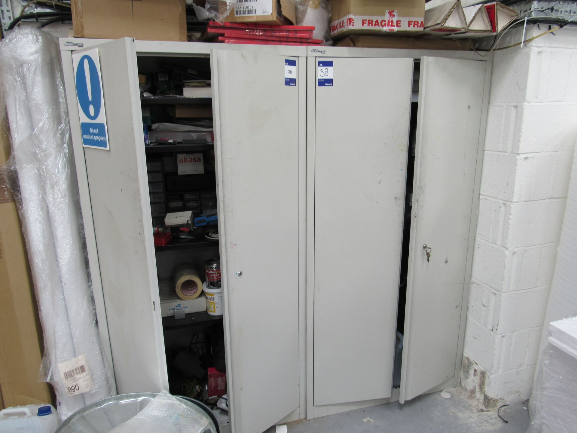 2 Steel Cabinets and Contents - Image 9 of 9