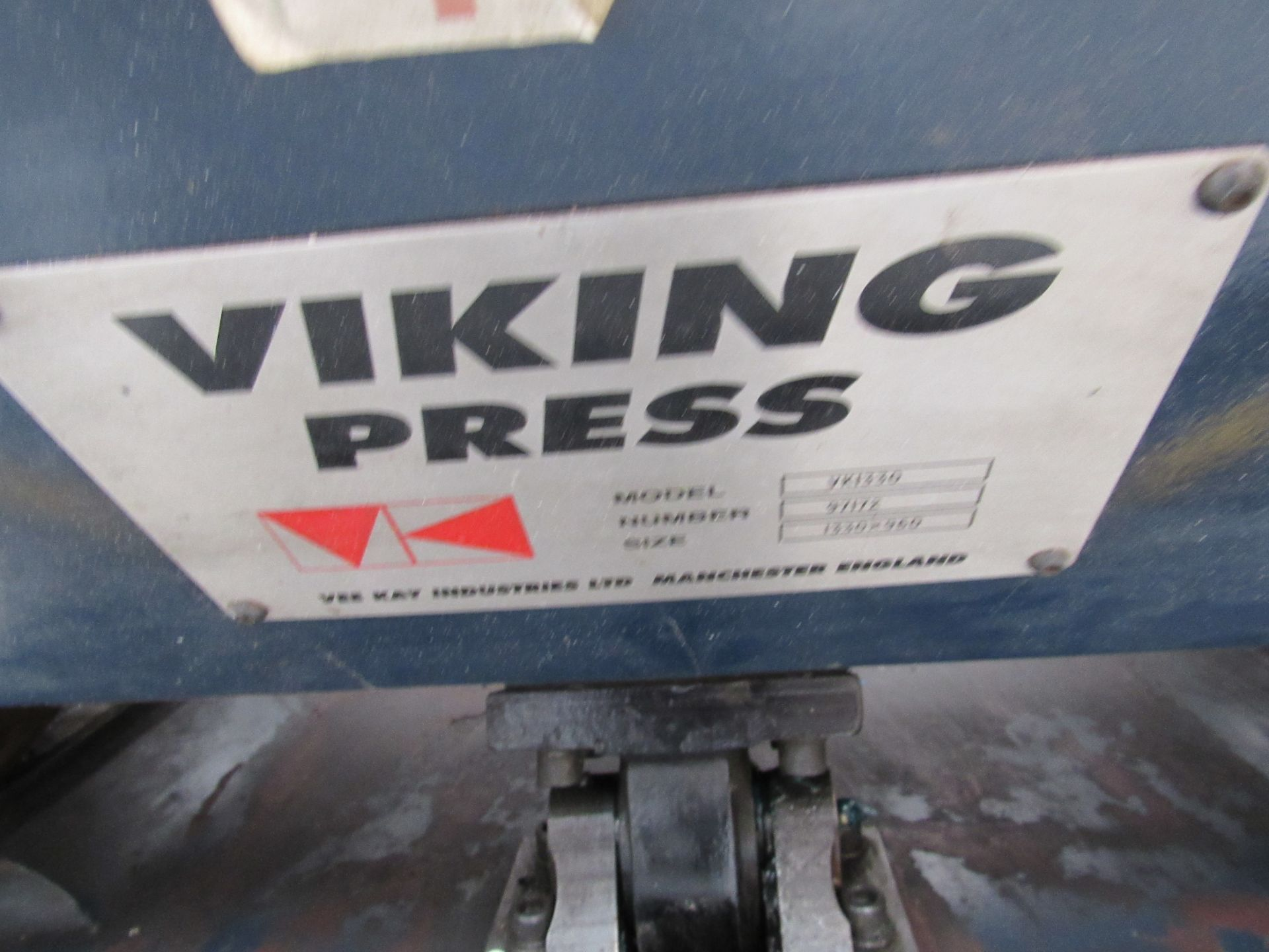 Viking Press VK1330 Cut and Crease Platen 1330 x 960mm Serial Number 97172 - Image 5 of 9