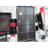 Steel Screen Frame Storage Cabinet & Quantity Frames