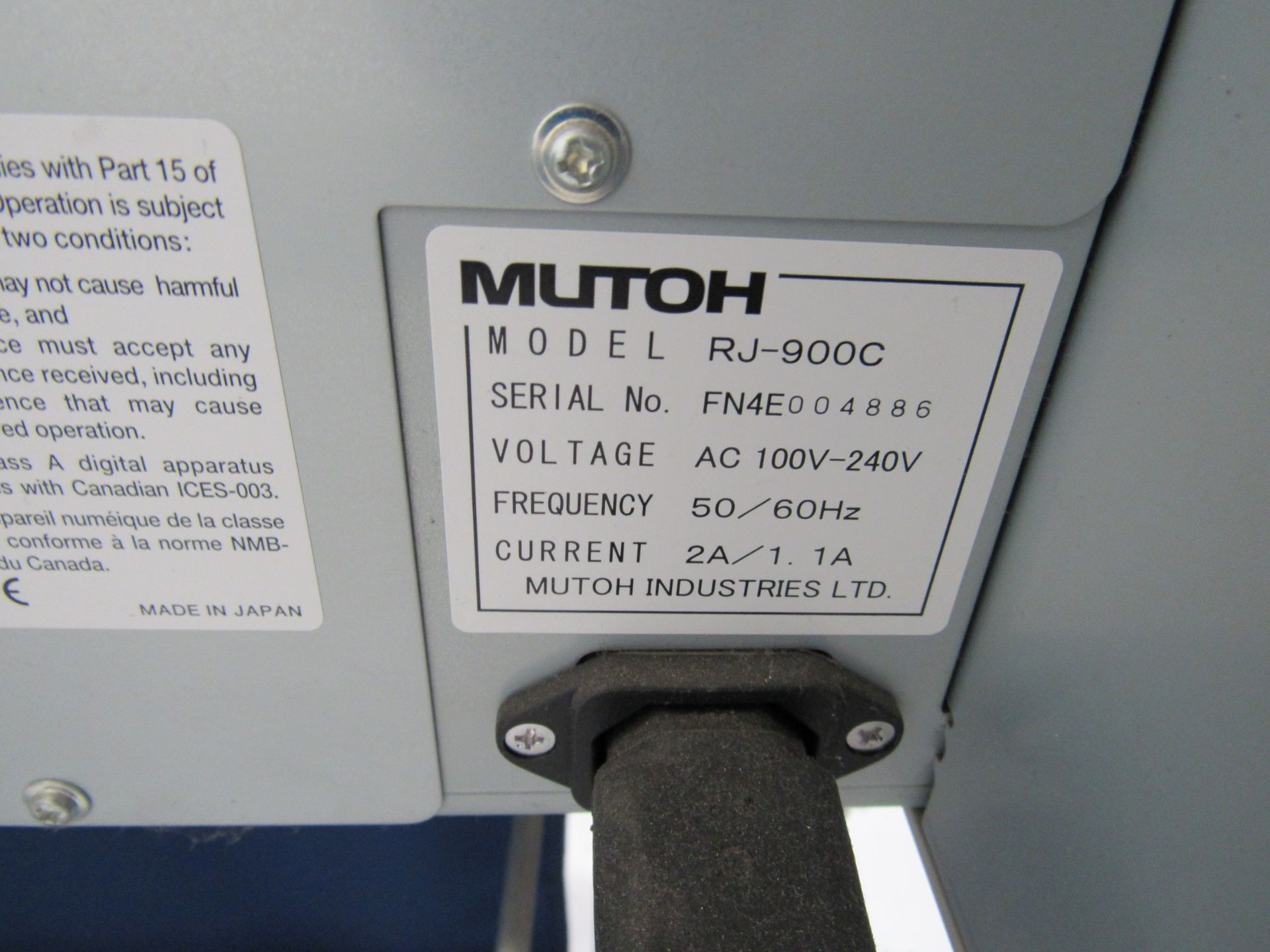 Mlitoh RJ-900C Wide Format Printer 1150mm Serial Number FN4E004886 - Image 5 of 5