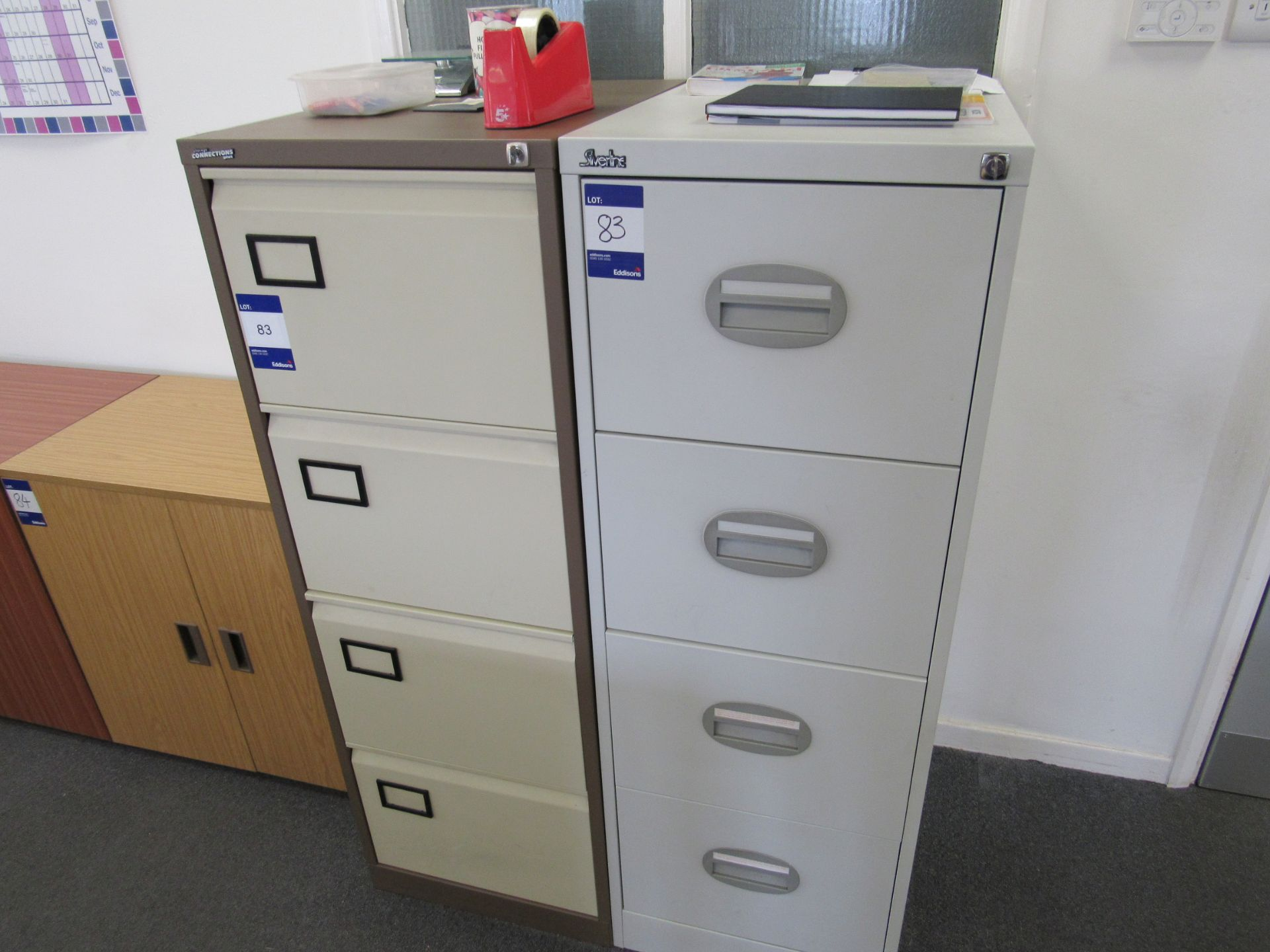 Storage Connections Plus 4 drawer metal filing cabinet, and Silverline metal 4 drawer cabinet, to