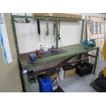 """Steel Work Bench with Vice and Clarke 8"""" Bench Grinder"""