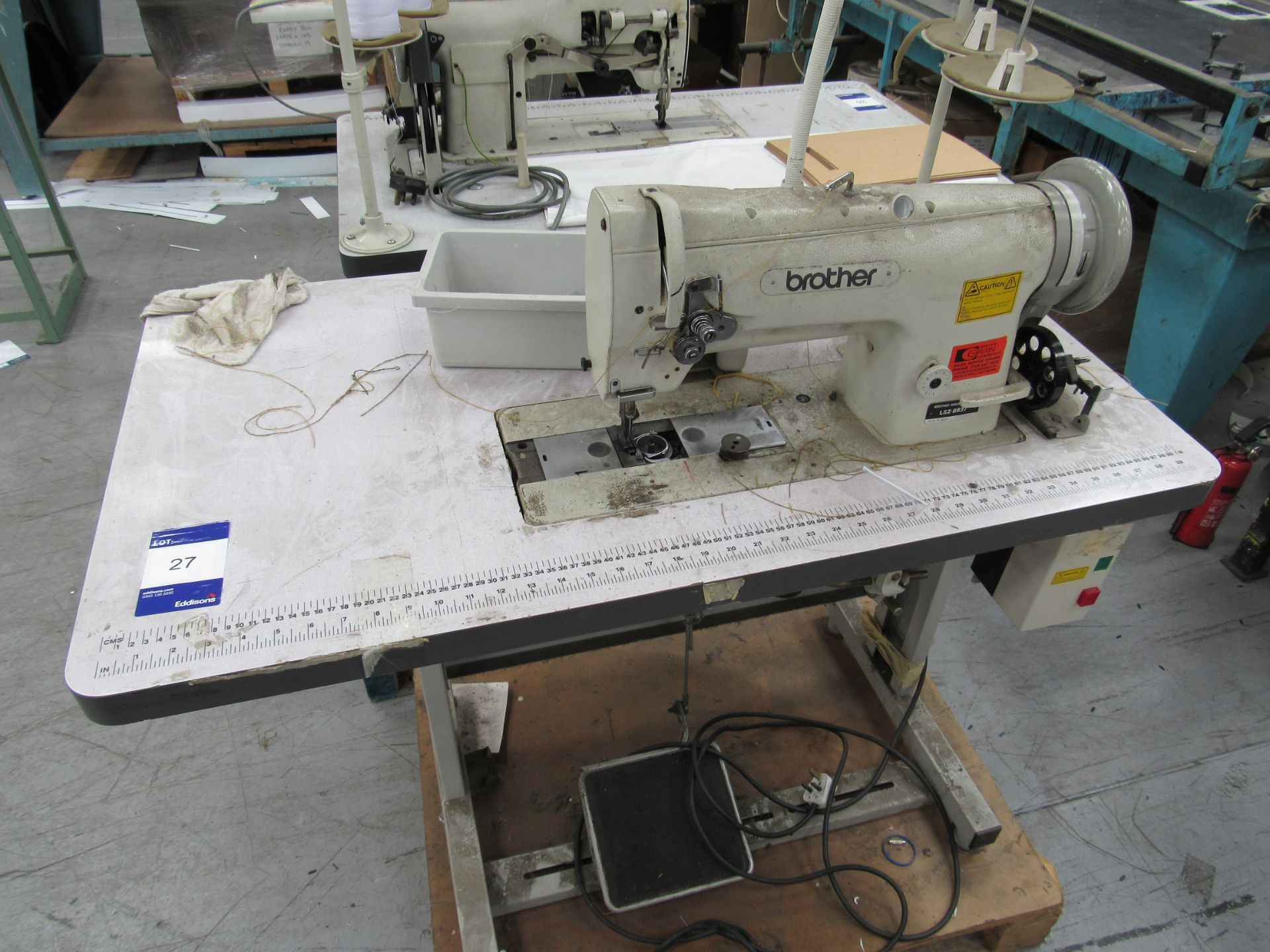 Brother LS2-B837 Industrial Sewing Machine Serial Number B9543539 - Image 2 of 3
