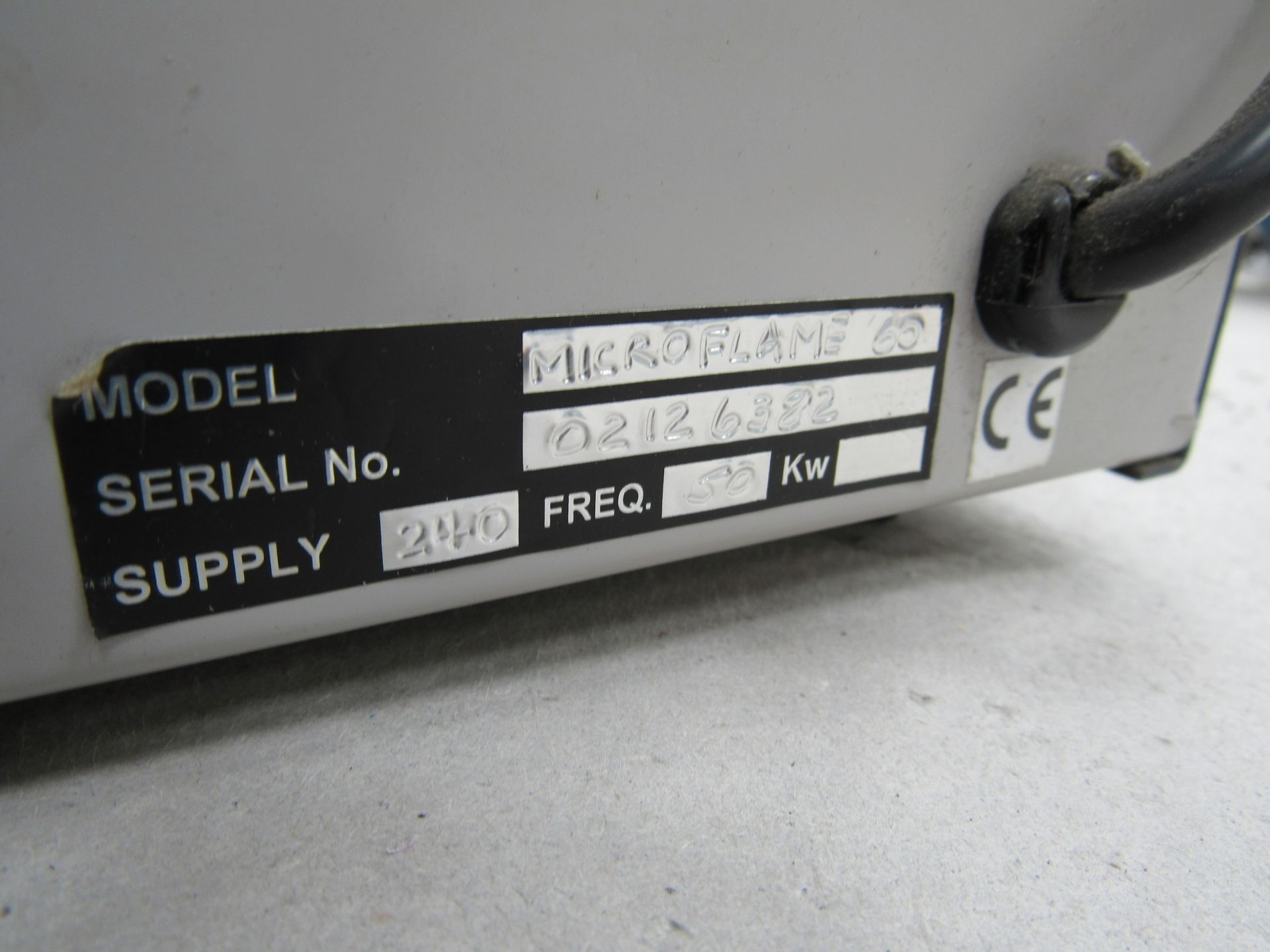 Microflame 60 Flame Polisher Serial Number 02126382 - Image 3 of 3