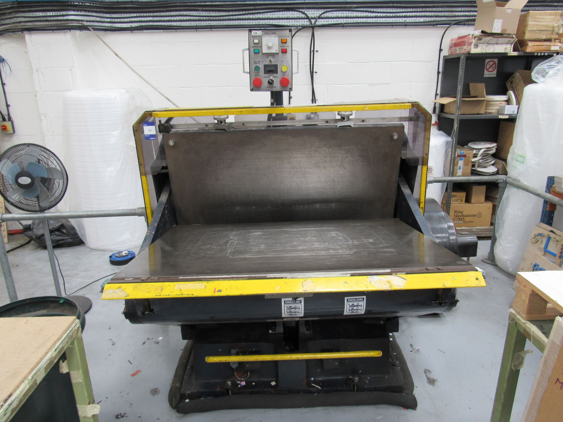 Viking Press VK1330 Cut and Crease Platen 1330 x 960mm Serial Number 97172 - Image 8 of 9
