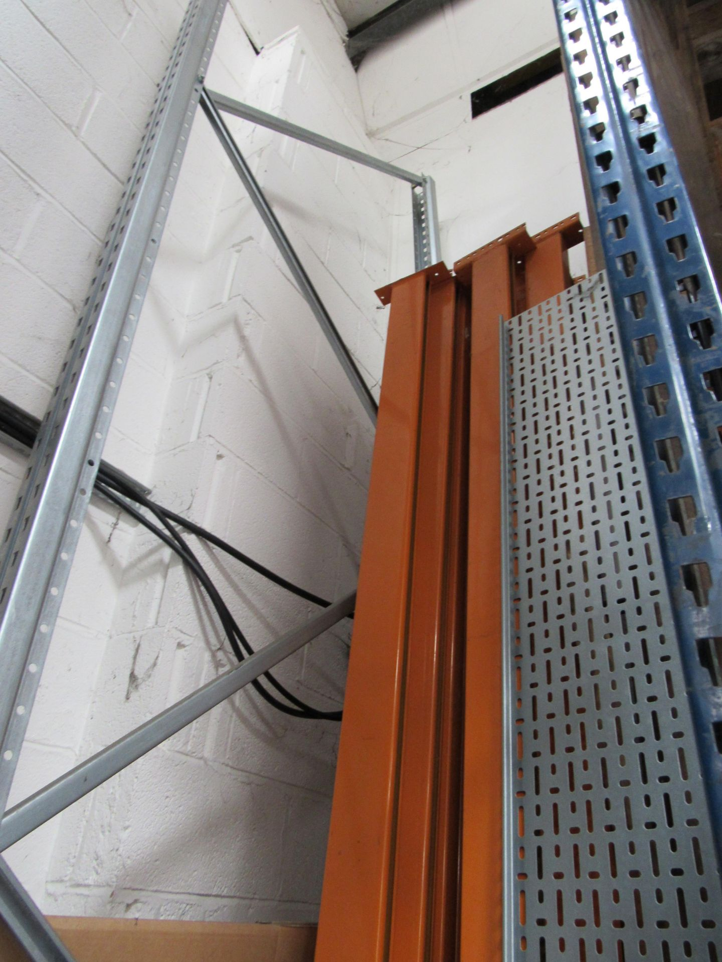 3 Bays Warehouse Racking, 5 End Frames, 12 Cross Beams (assembled) plus 1 End Frame and Approx. 16 - Image 5 of 6