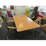 Meeting room table (Approximately 1580 x 900) with 4 x chairs