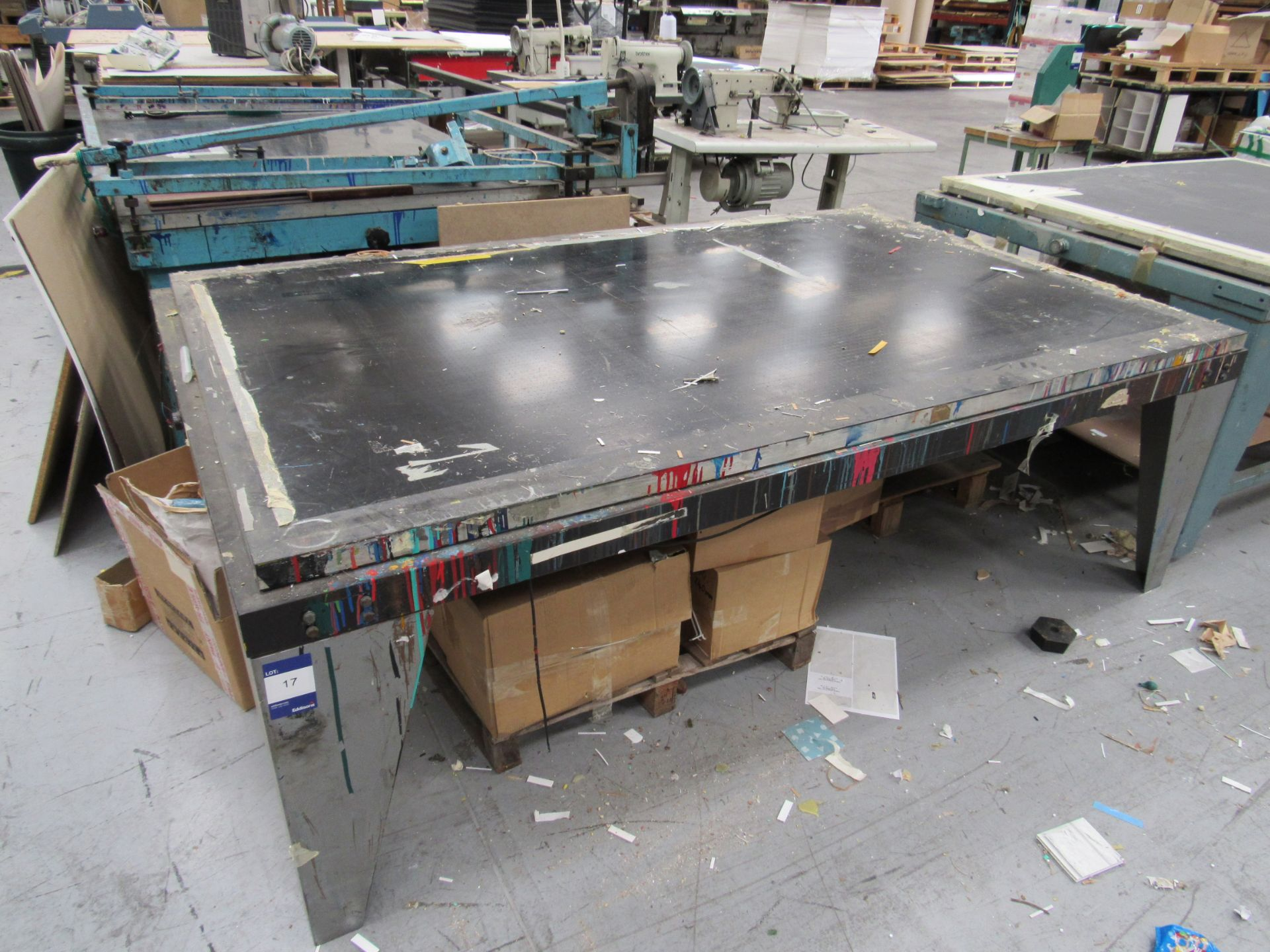 Screen Printing Table, incomplete with Vacuum Pump - Image 2 of 2