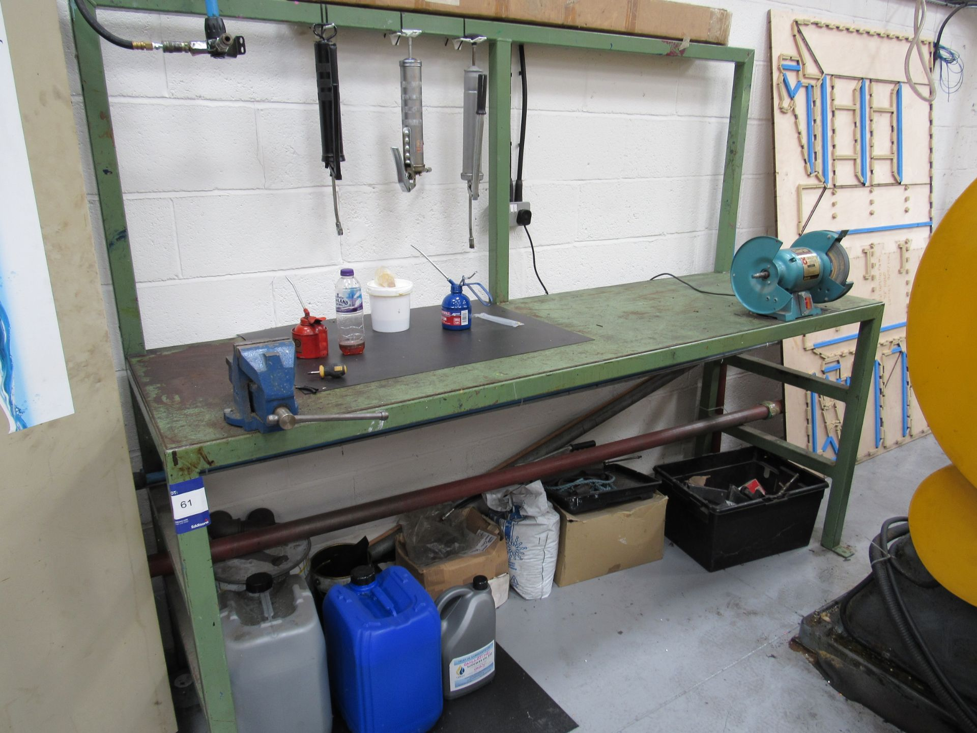 """Steel Work Bench with Vice and Clarke 8"""" Bench Grinder - Image 2 of 2"""