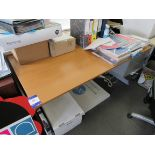 Single person workstation with fixed undercounter drawers (Approximately 1600 x 800), to first floor