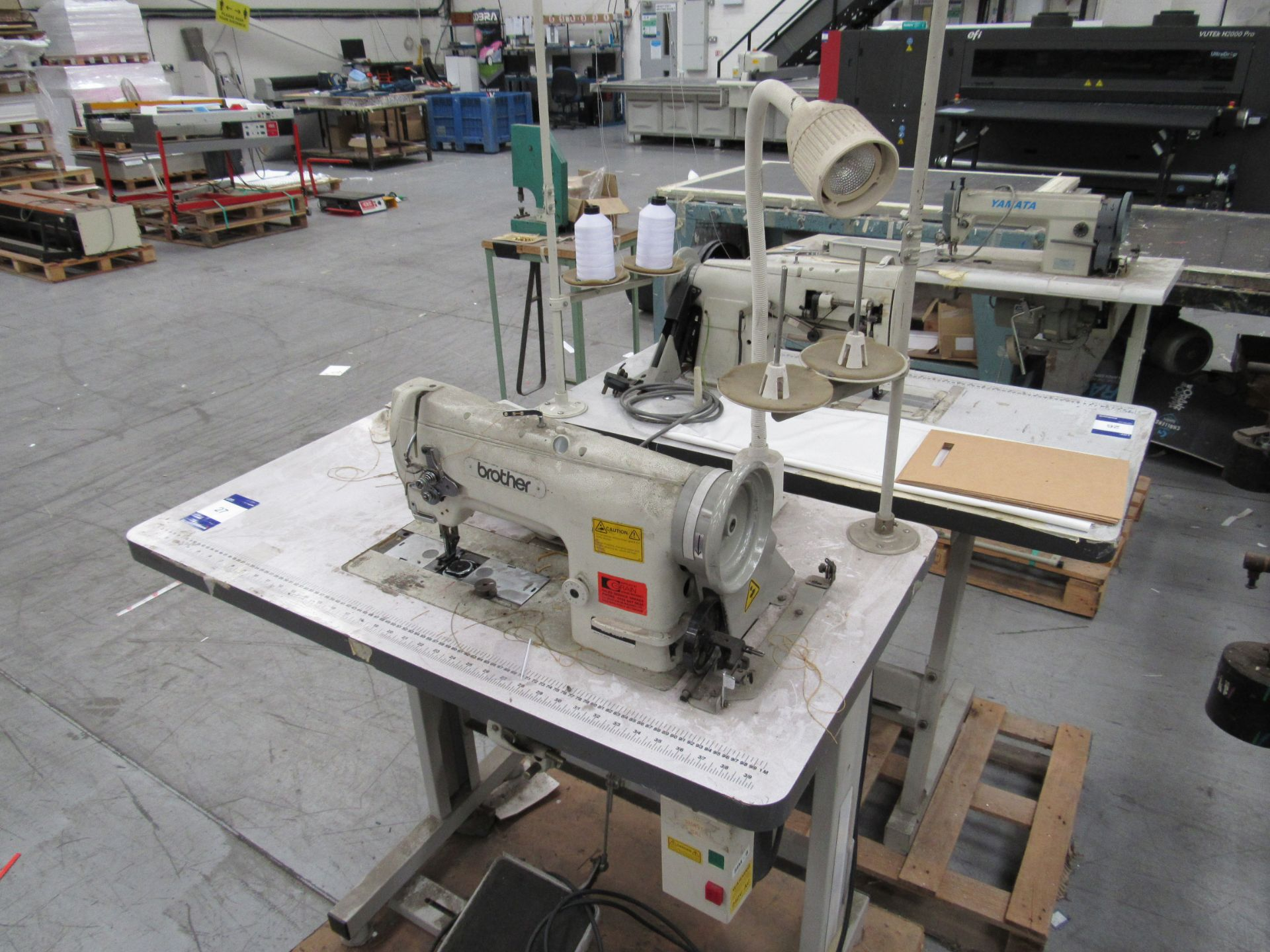 Brother LS2-B837 Industrial Sewing Machine Serial Number B9543539