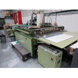 Sias Print Serifast 117.180 Screen Printer Serial Number 88745 with Natgraph 155-2000E UV Dryer Line