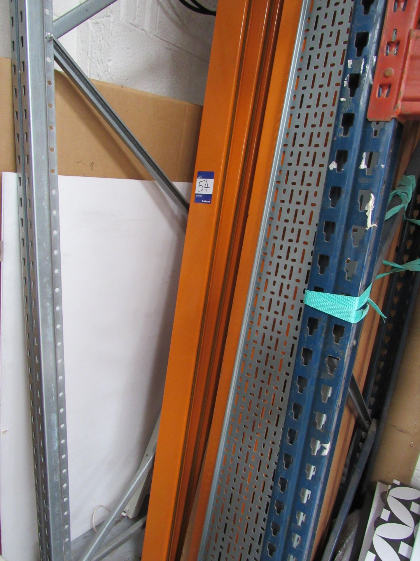 3 Bays Warehouse Racking, 5 End Frames, 12 Cross Beams (assembled) plus 1 End Frame and Approx. 16 - Image 6 of 6