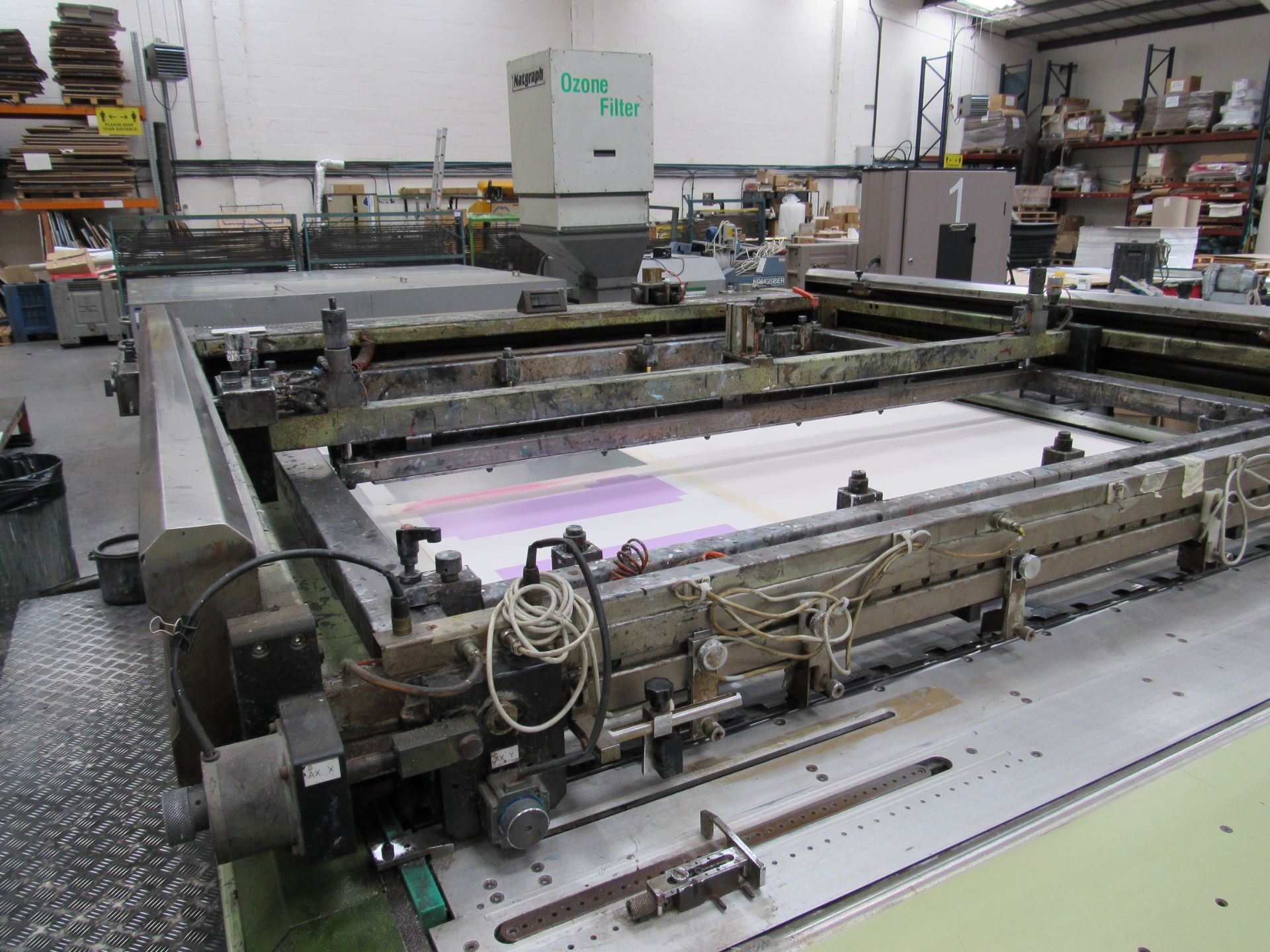 Serfast Screen Printer with Natgraph 170-02.01 UV Dryer, Serial Number 337-02-04, 2002 - Image 3 of 13