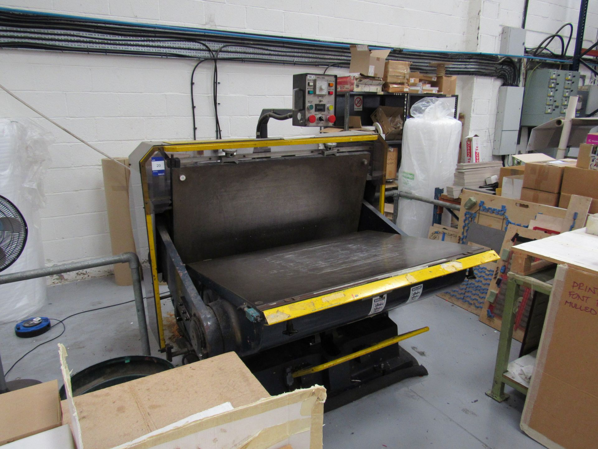 Viking Press VK1330 Cut and Crease Platen 1330 x 960mm Serial Number 97172 - Image 9 of 9