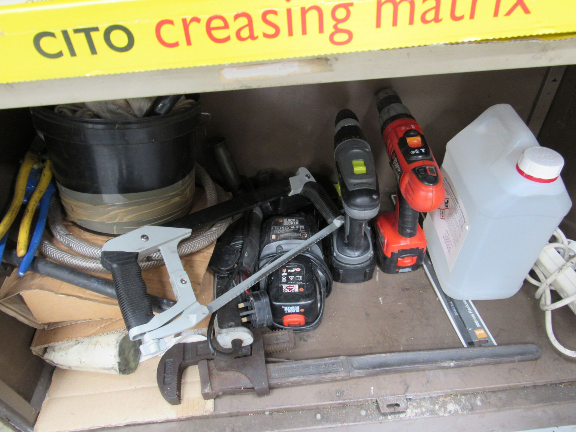 Steel Double Door Cupboard and Contents Creasing Matrix and Various Tools - Image 4 of 4