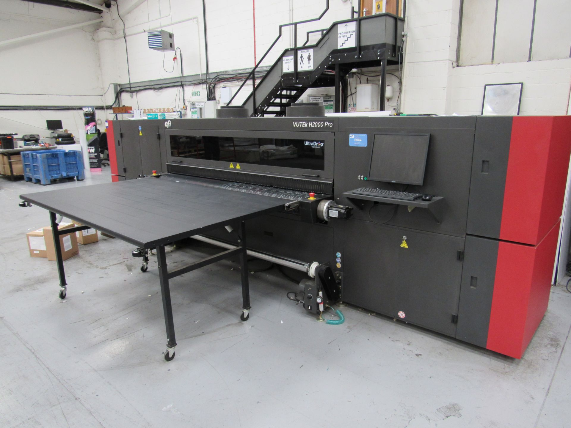 EFI VUTEk H2000 Pro - UltraDrop Technology UV 2m Hybrid Printer, Serial Number 262013, Dec 2014,