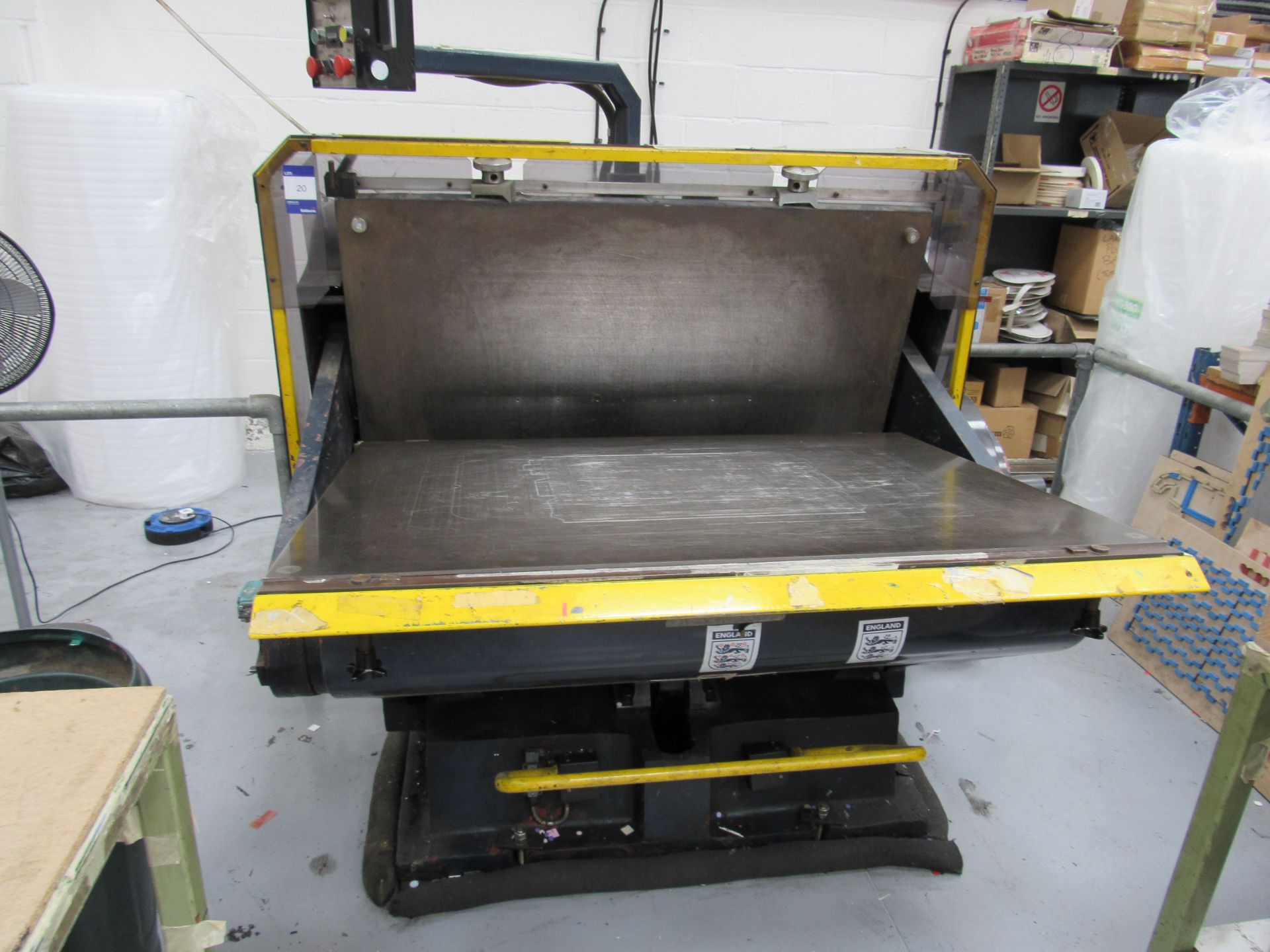 Viking Press VK1330 Cut and Crease Platen 1330 x 960mm Serial Number 97172