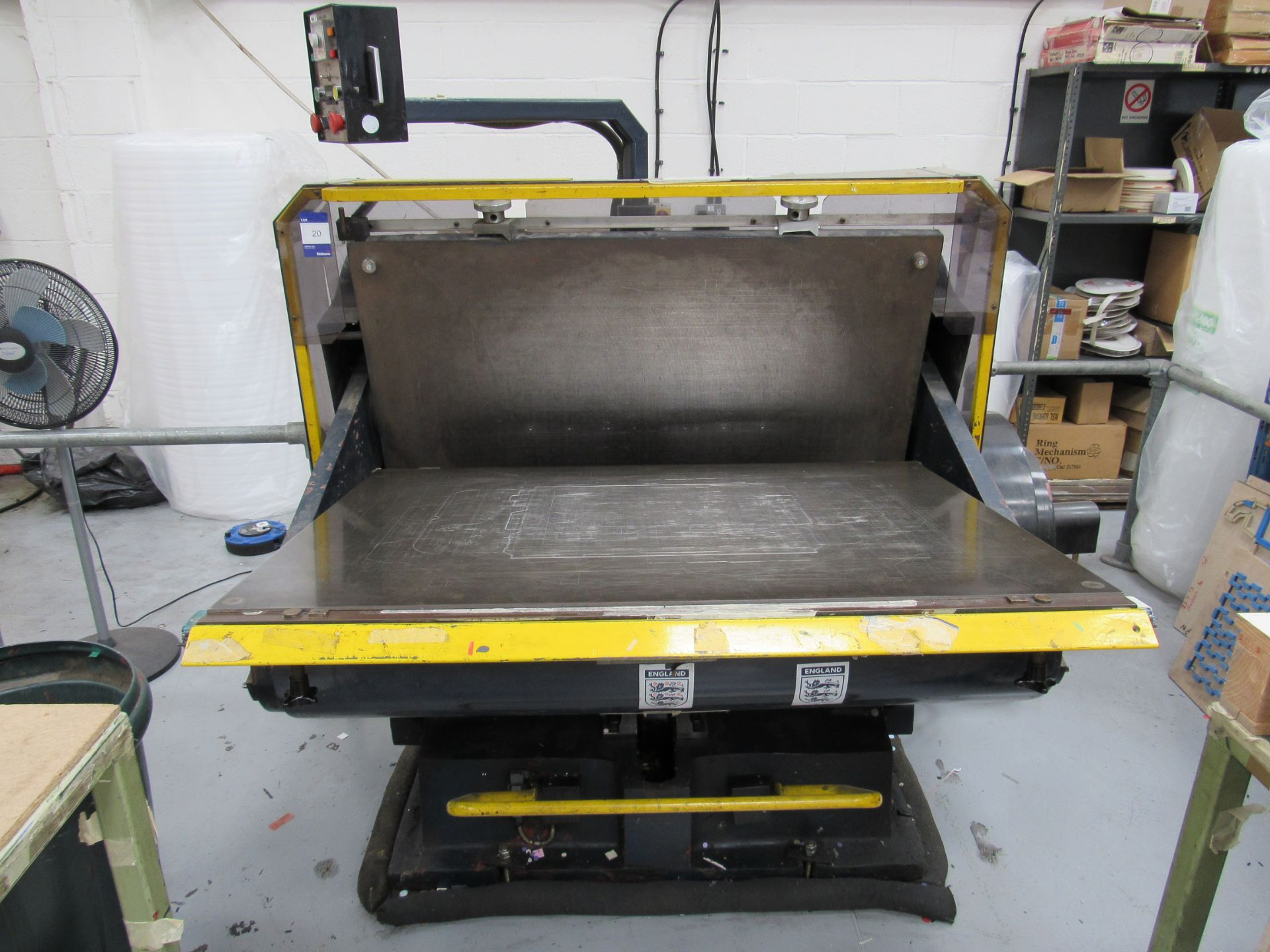 Viking Press VK1330 Cut and Crease Platen 1330 x 960mm Serial Number 97172 - Image 3 of 9