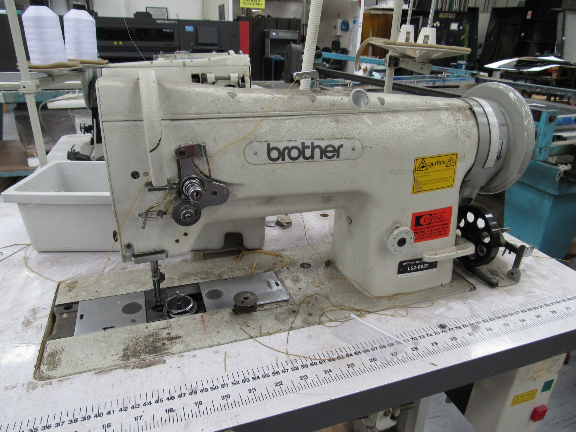 Brother LS2-B837 Industrial Sewing Machine Serial Number B9543539 - Image 3 of 3