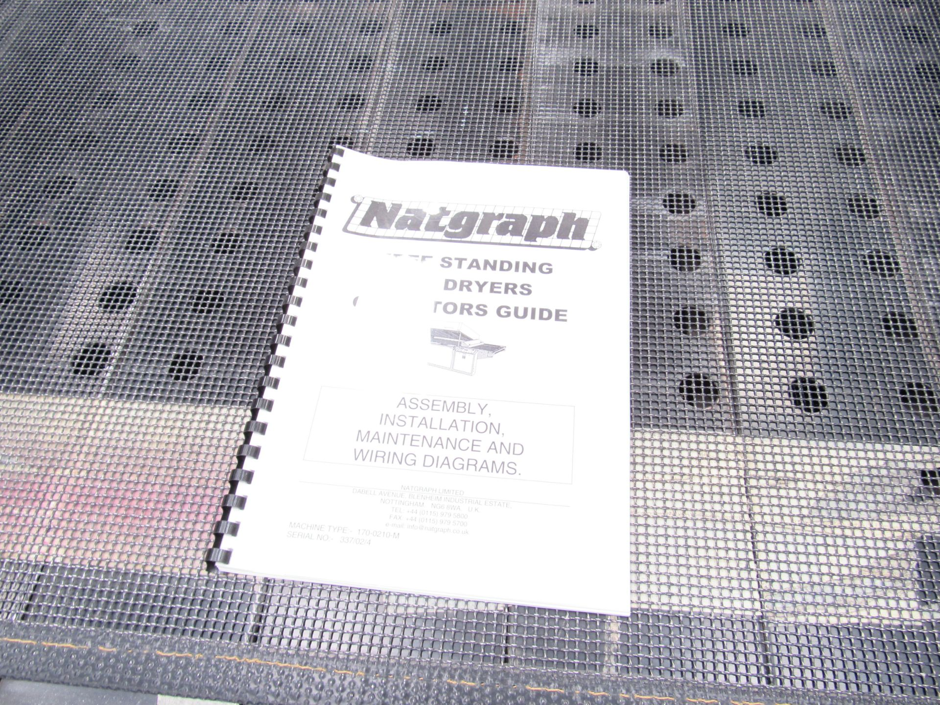 Serfast Screen Printer with Natgraph 170-02.01 UV Dryer, Serial Number 337-02-04, 2002 - Image 10 of 13