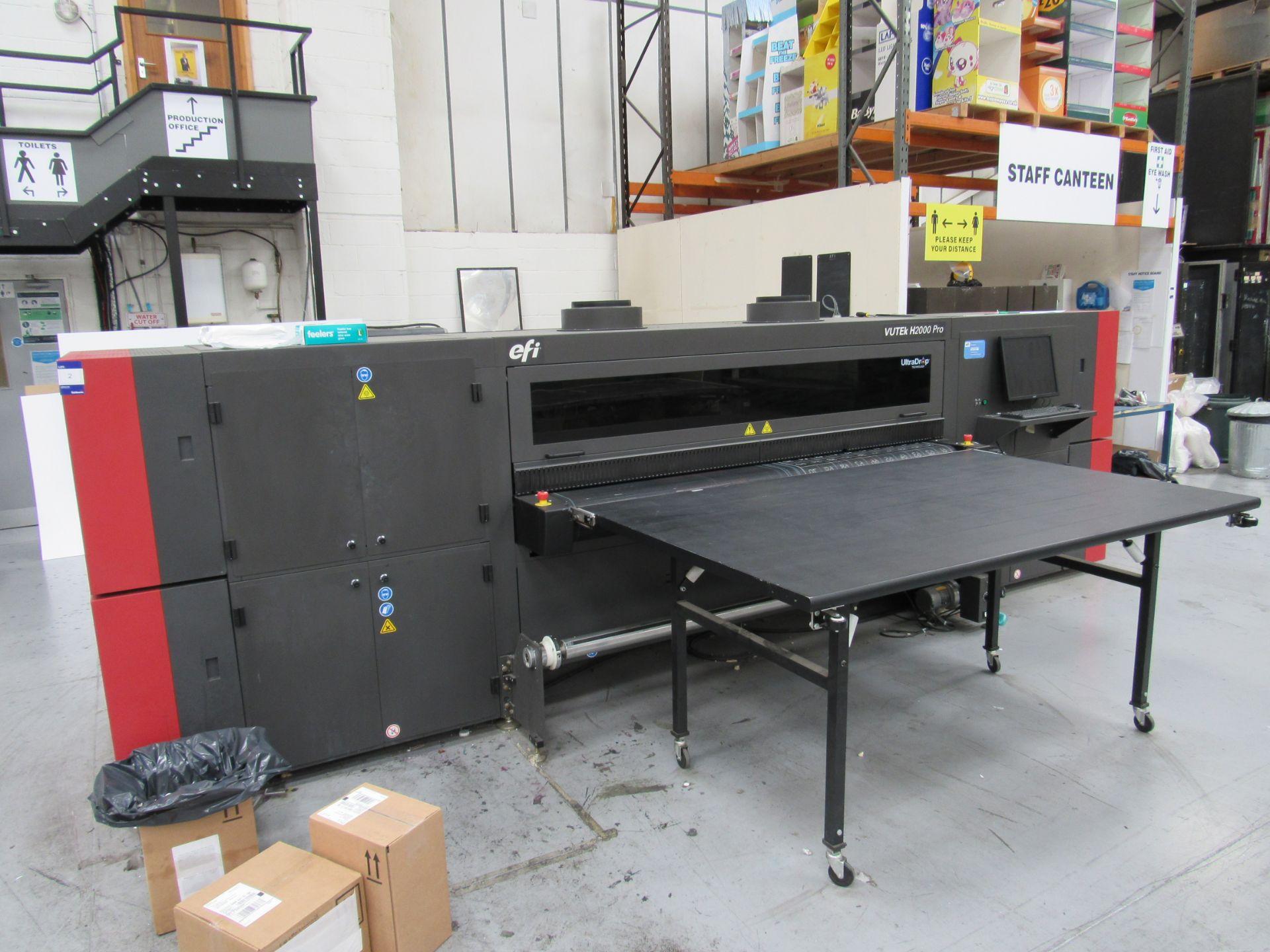 EFI VUTEk H2000 Pro - UltraDrop Technology UV 2m Hybrid Printer, Serial Number 262013, Dec 2014, - Image 2 of 16