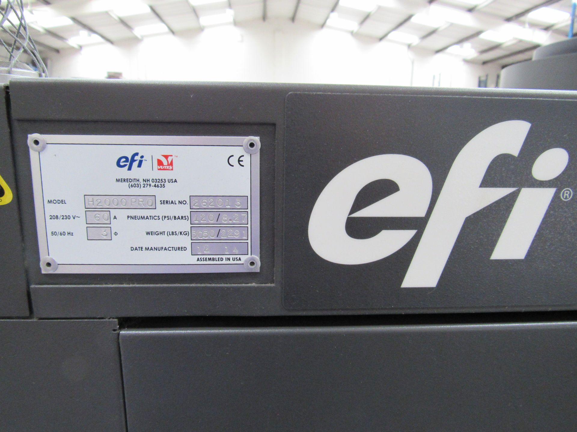 EFI VUTEk H2000 Pro - UltraDrop Technology UV 2m Hybrid Printer, Serial Number 262013, Dec 2014, - Image 5 of 16