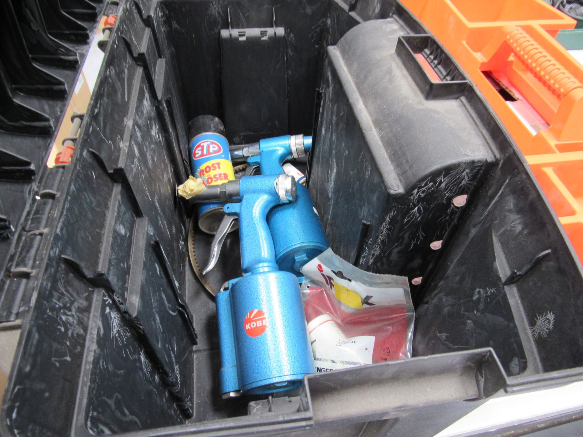Tool Box and JCB Socket Set, incomplete - Image 2 of 2