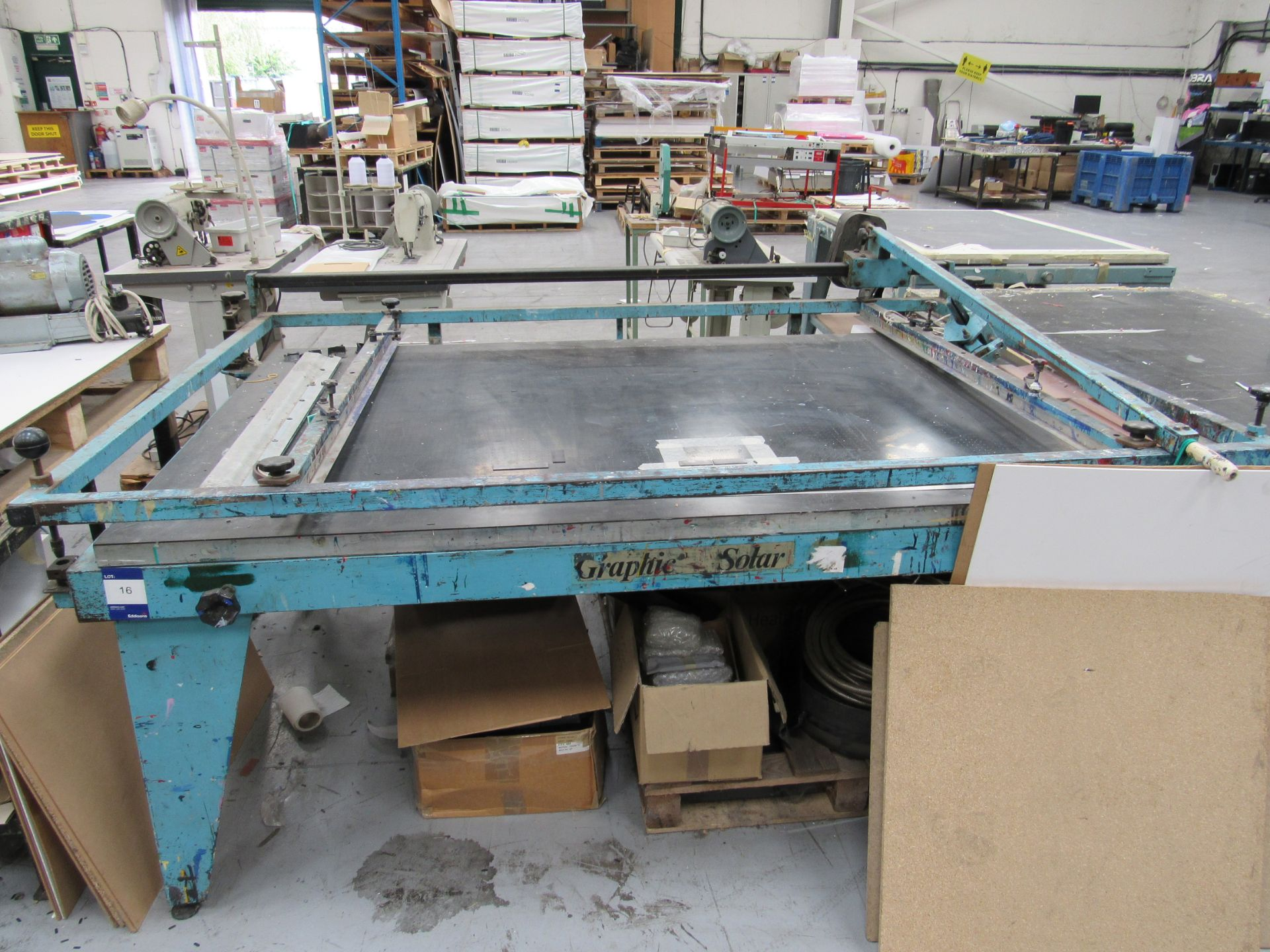 Graphic Solar Screen Printing Table 2100 x 1250mm - Image 2 of 2