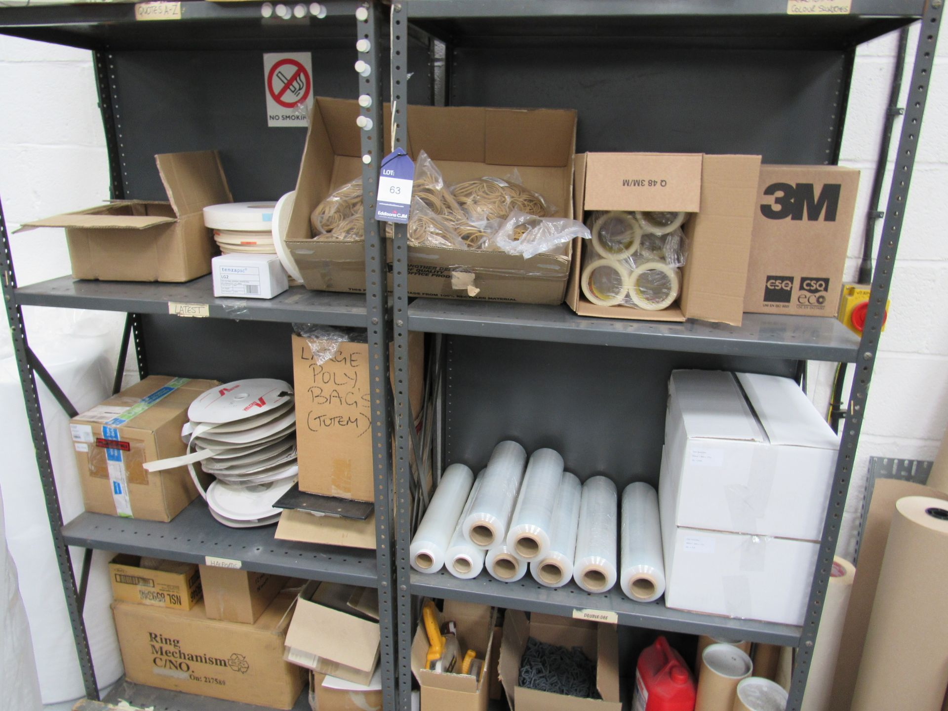 2 Bolted Steel Shelf Unit and Quantity Stocks - Image 3 of 4