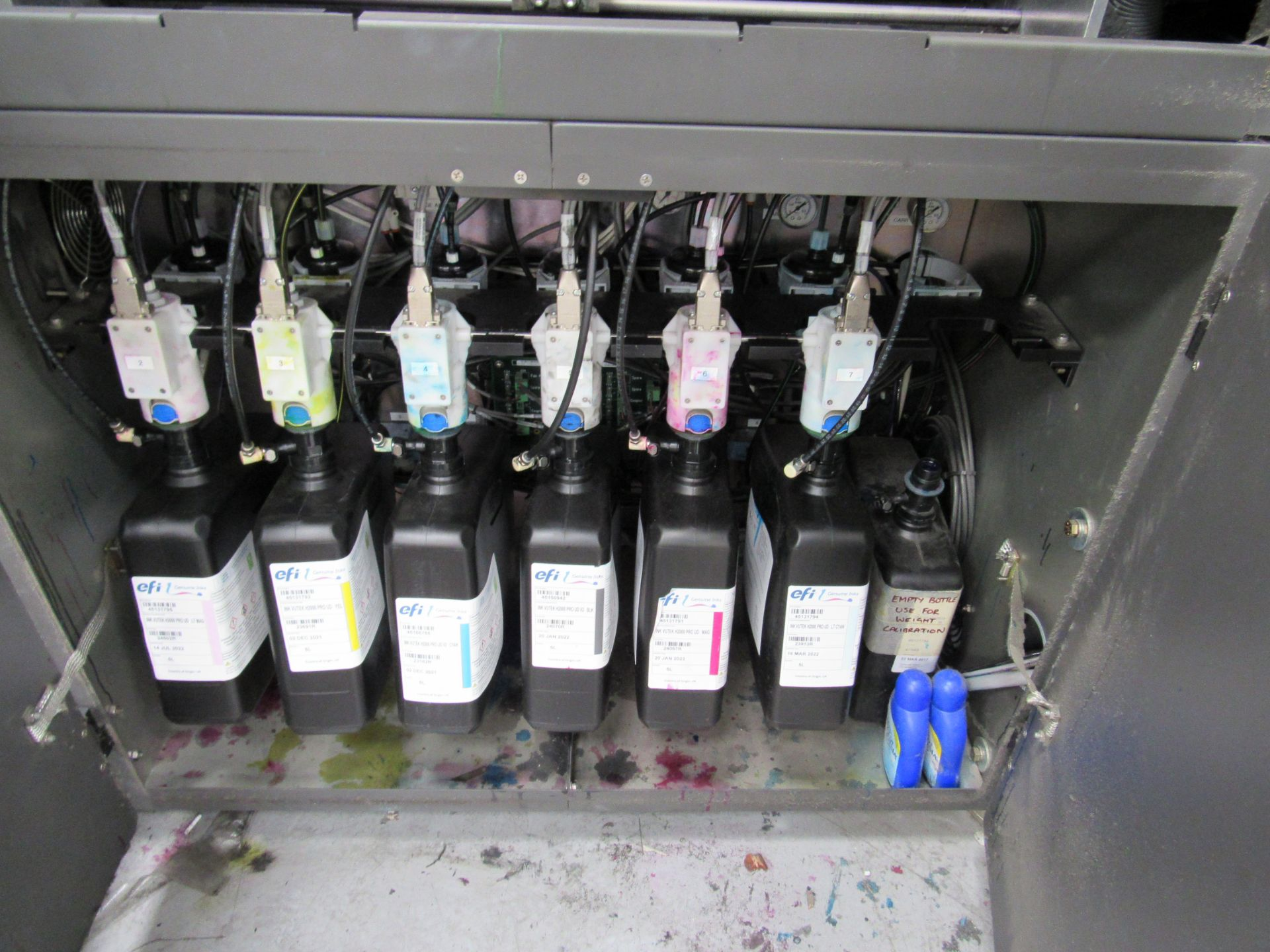 EFI VUTEk H2000 Pro - UltraDrop Technology UV 2m Hybrid Printer, Serial Number 262013, Dec 2014, - Image 11 of 16