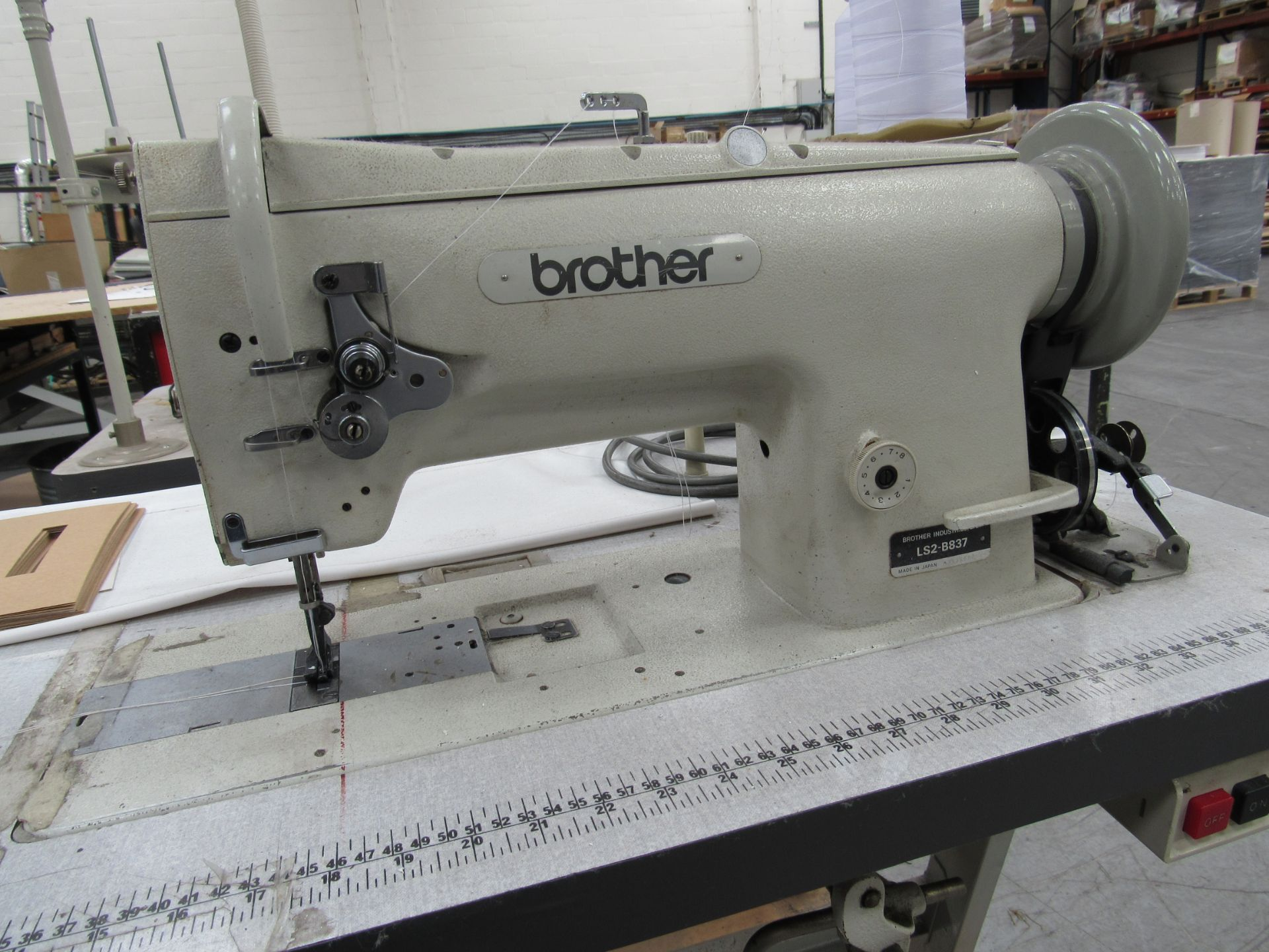 Brother LS2-B837 Industrial Sewing Machine Serial Number M3538580 - Image 3 of 3
