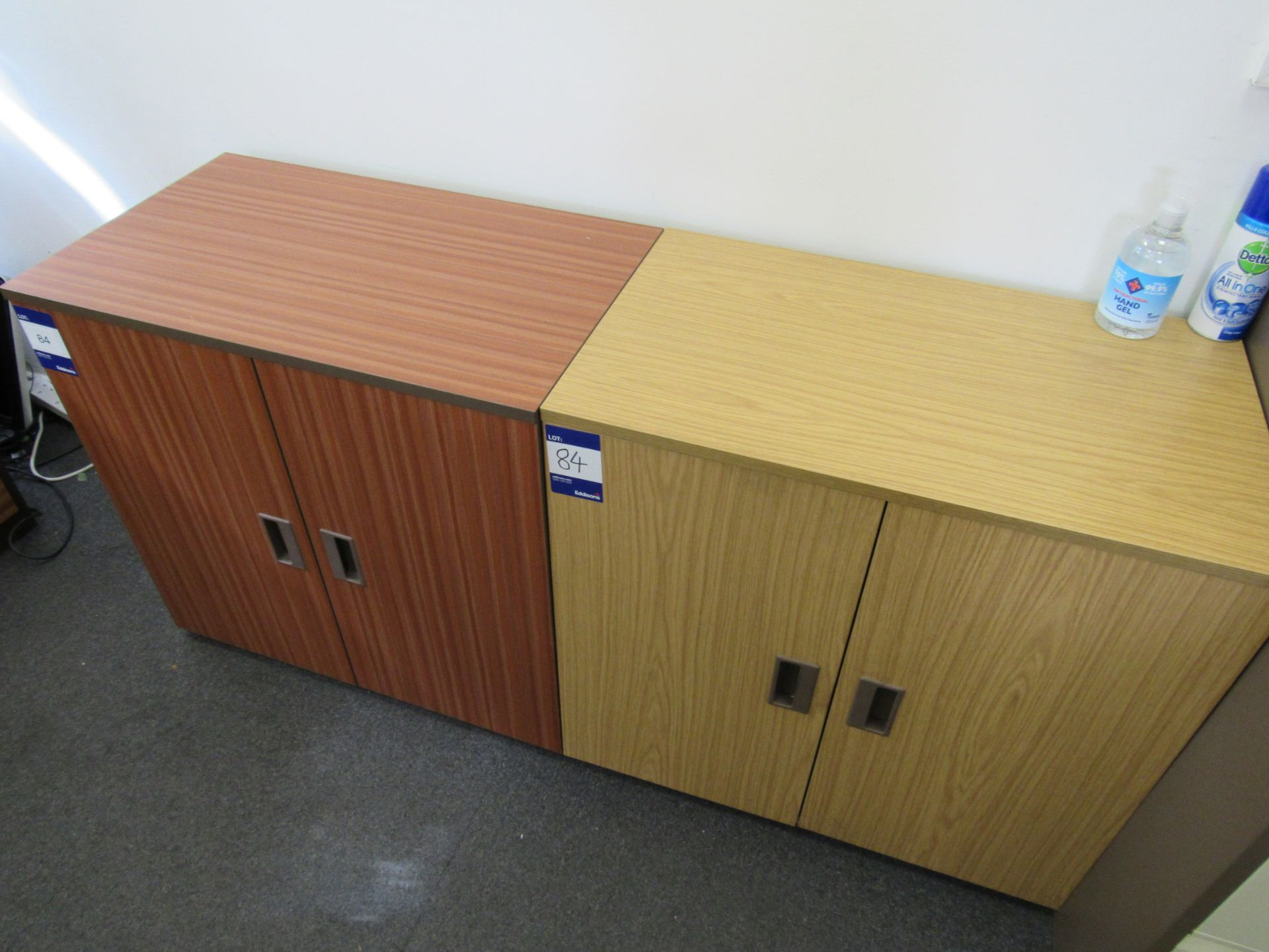 4 x Assorted low level double door cupboards (Approximately 750 x 710 x 450), to first floor office - Image 2 of 4