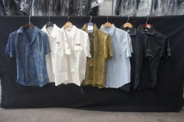 7 x Various short sleeve shirts, M