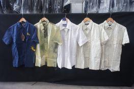 5 x Various short sleeve shirts, M